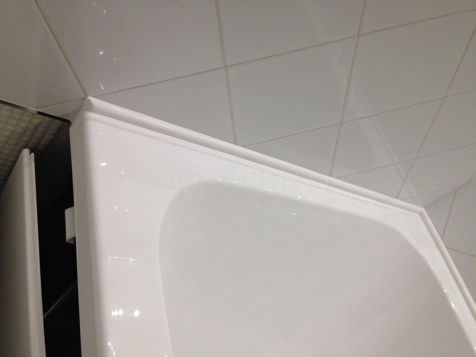 Как сделать бордюр в ванной у стены 163